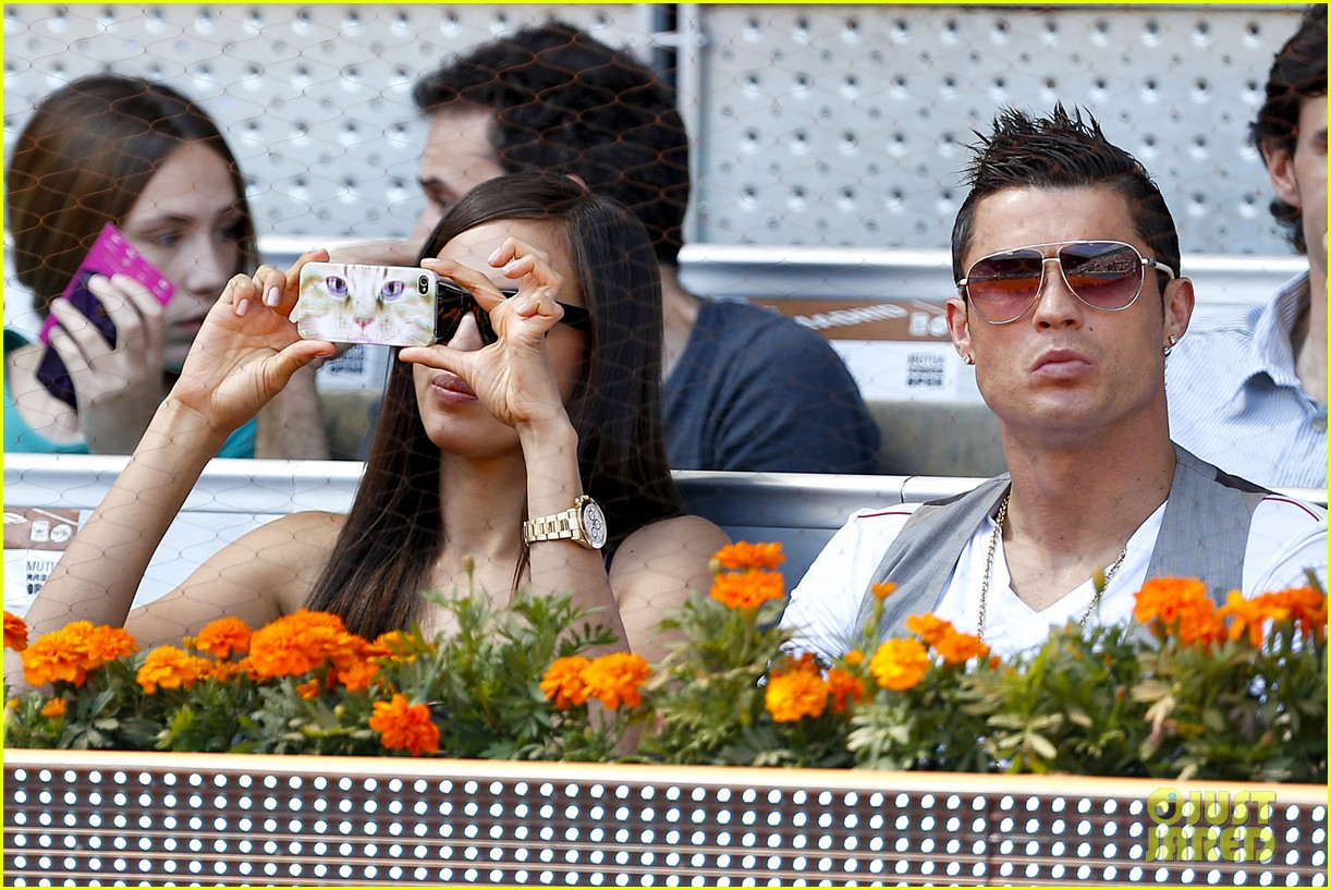 cristiano ronaldo irina shayk madrid open game after xti event 122867899
