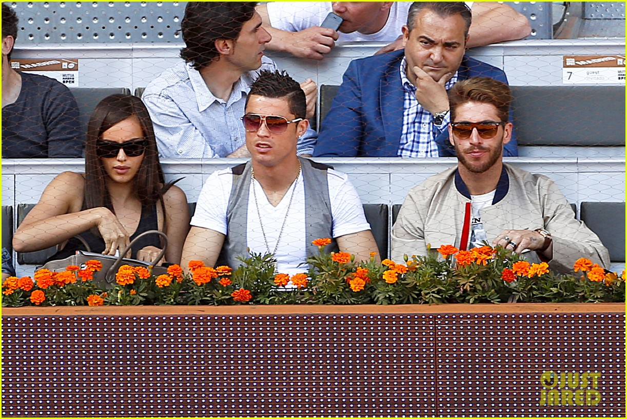 cristiano ronaldo irina shayk madrid open game after xti event 17