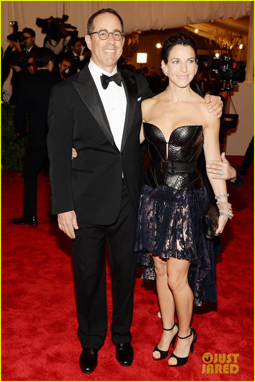 jerry seinfeld met ball 2013 red carpet with wife jessica 032865934