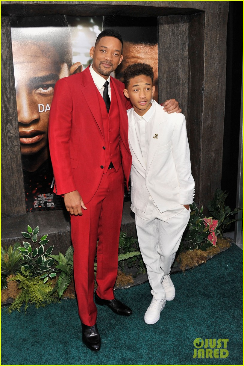 jada will smith after earth premiere with willow jada trey 092880270
