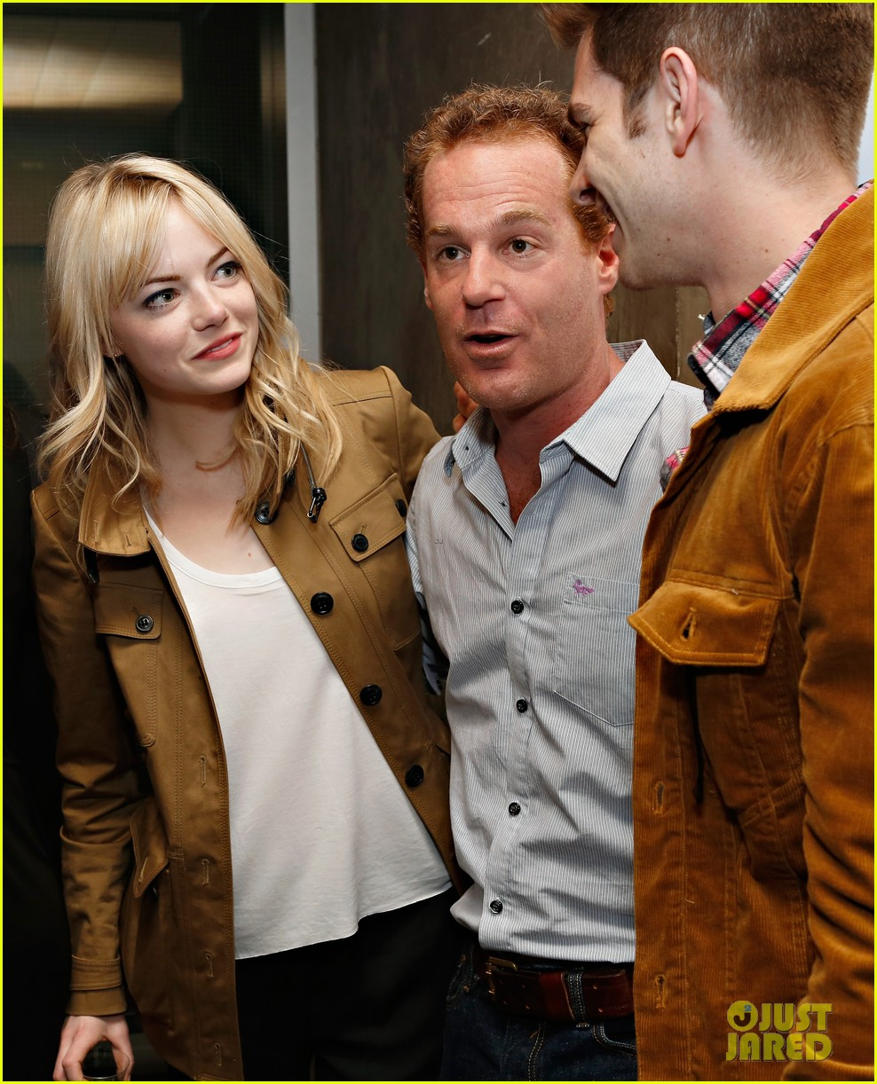 emma stone andrew garfield bull opening night 01