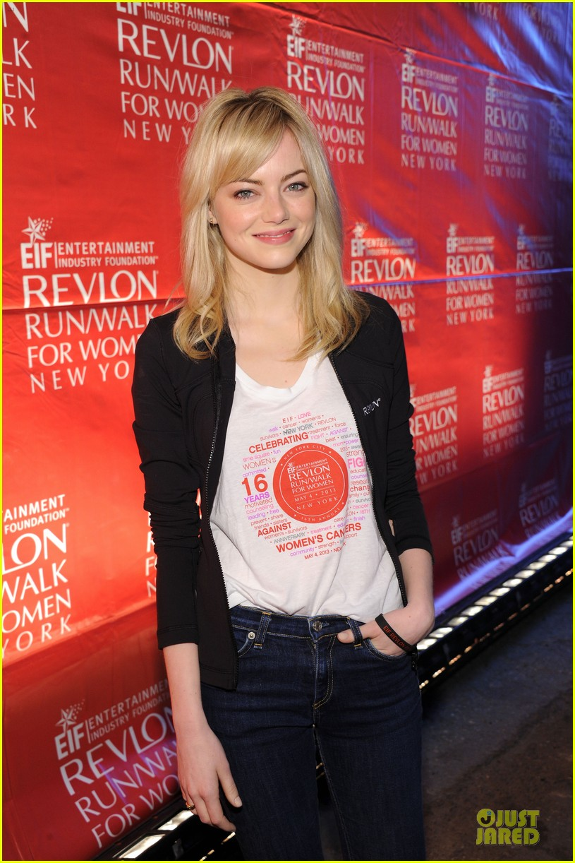 emma stone olivia wilde eif revlon run walk for women hosts 08