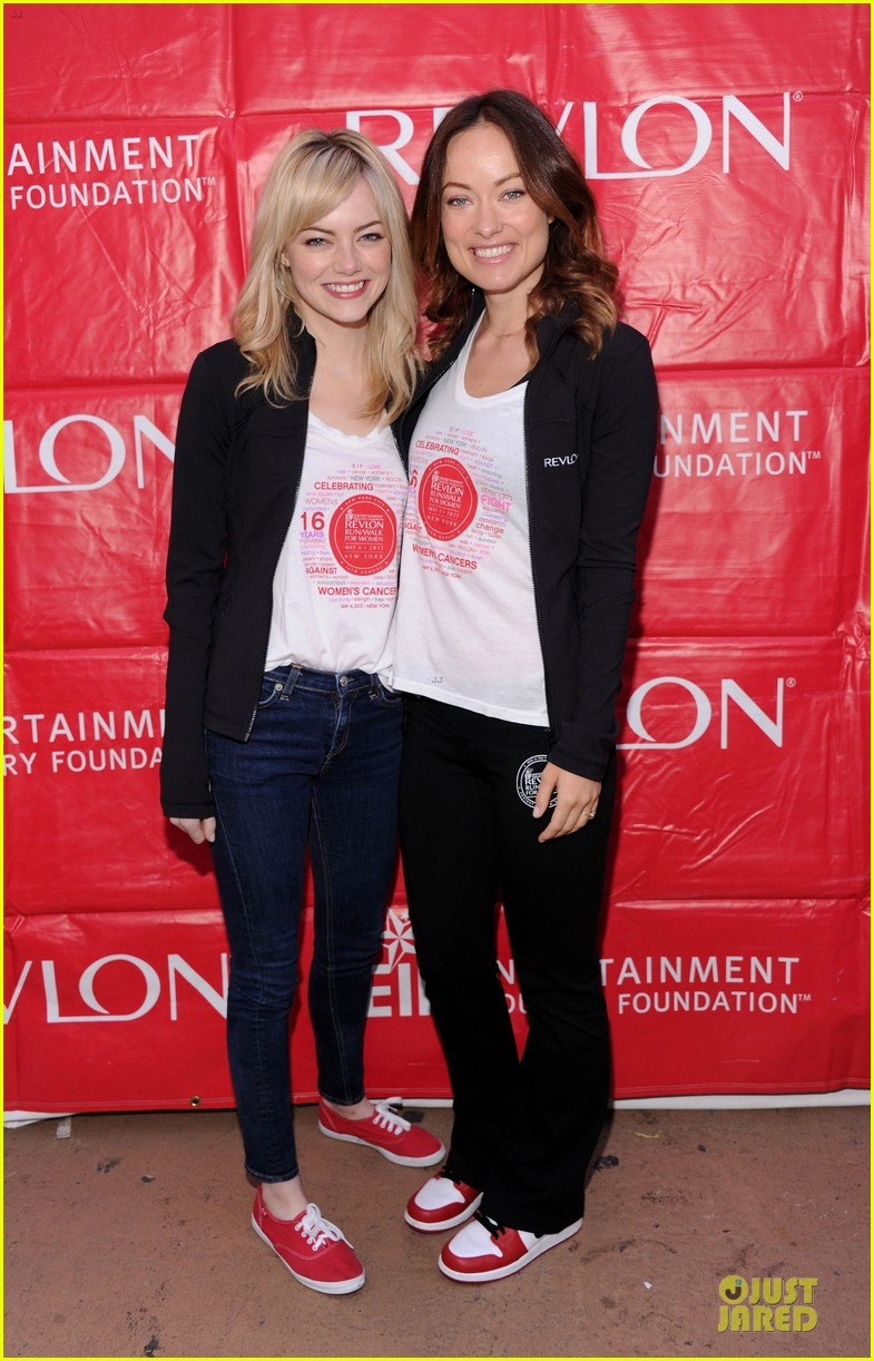 emma stone olivia wilde eif revlon run walk for women hosts 11