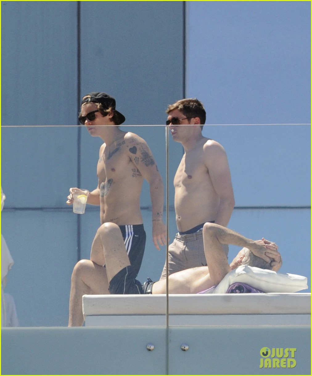harry styles shirtless poolside in spain 112876312