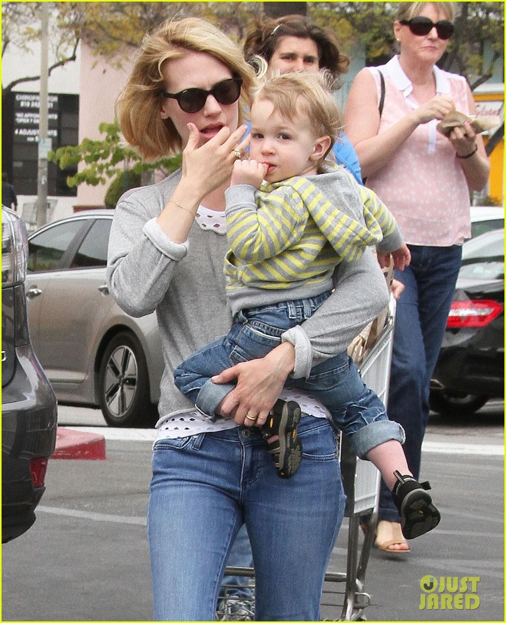 Baby Xander Grabs January Jones' Sunglasses Off Her Face ...
