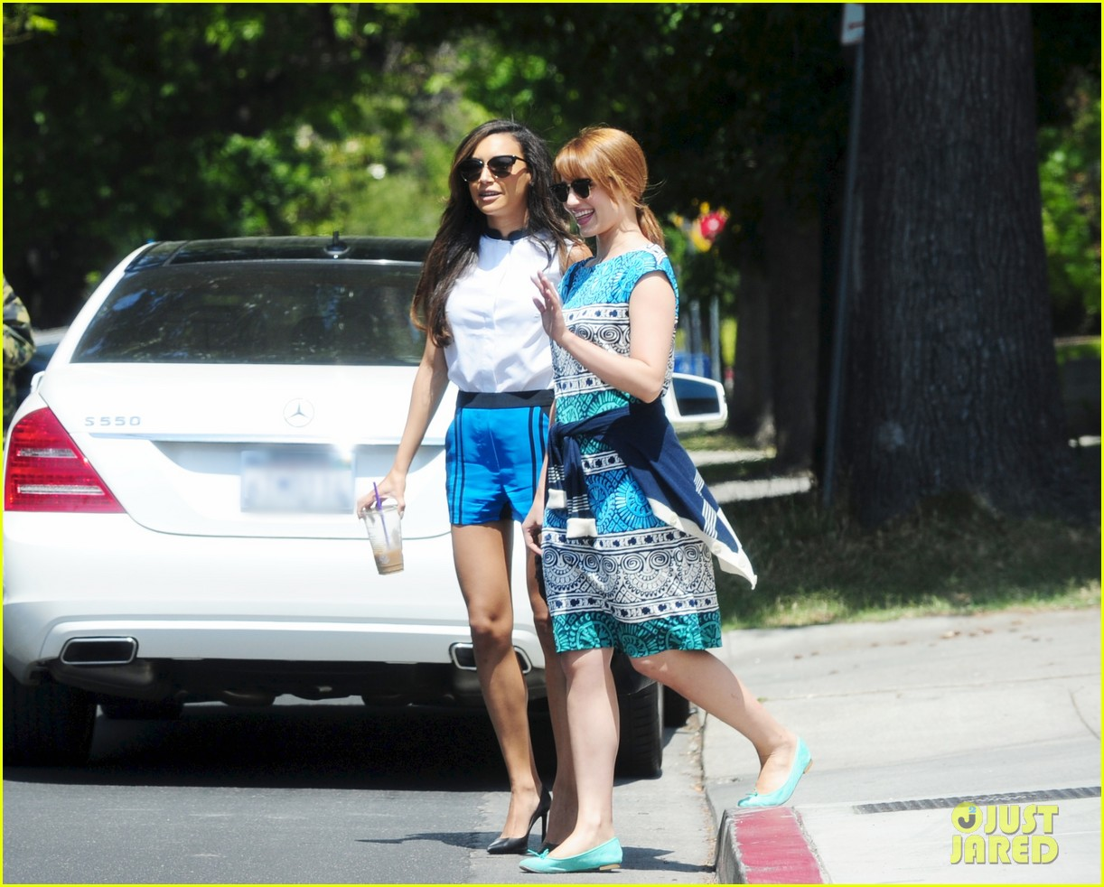 dianna agron naya rivera little doms lunch gals 03