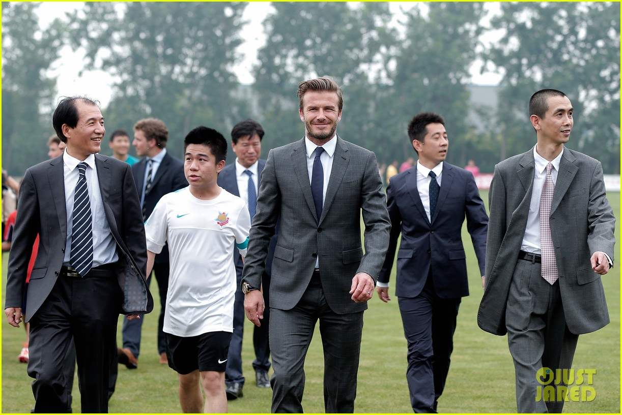 david beckham third day of china visit 132894413