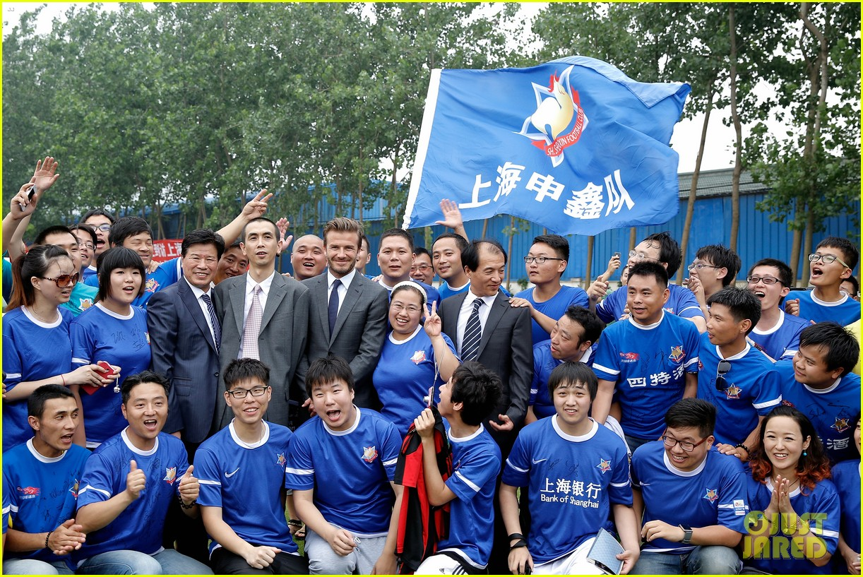 david beckham third day of china visit 152894415
