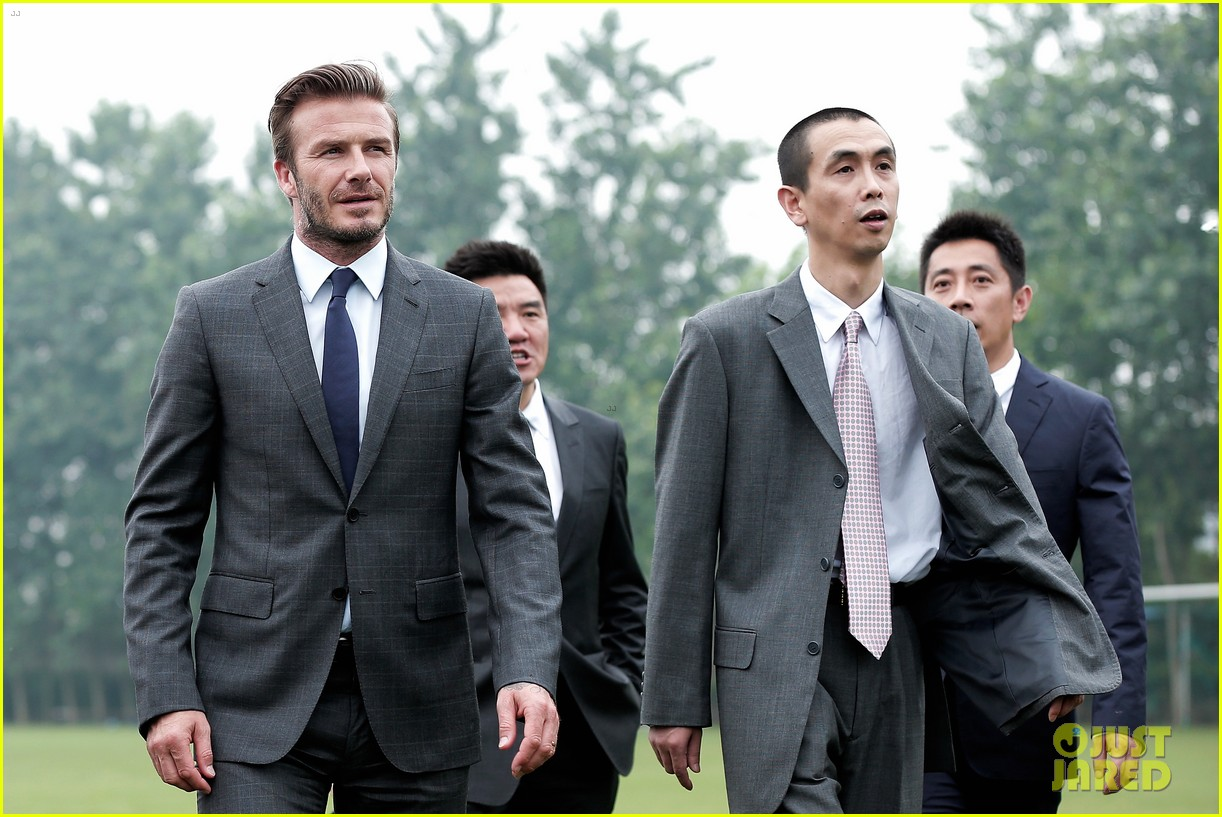 david beckham third day of china visit 21