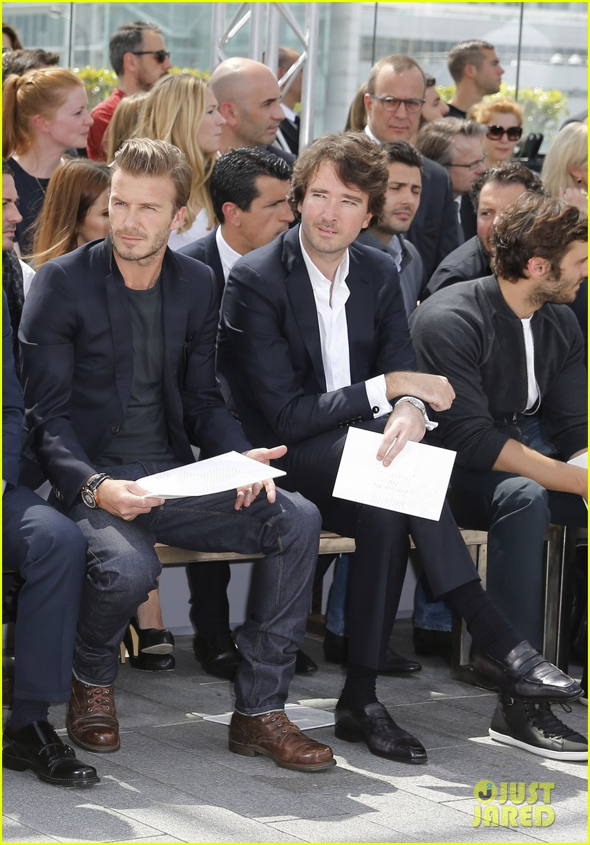 david beckham louis vuitton fashion show with marc jacobs 022899499