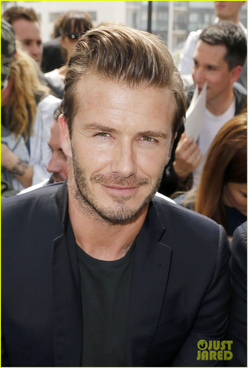 david beckham louis vuitton fashion show with marc jacobs 122899509