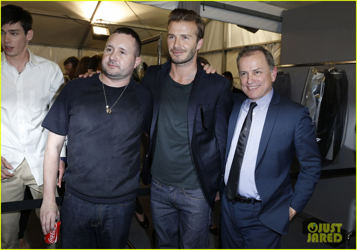 david beckham louis vuitton fashion show with marc jacobs 202899517