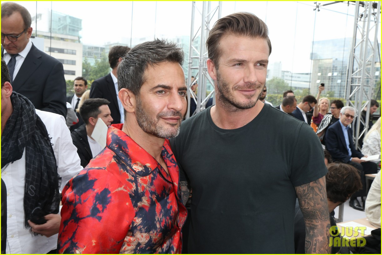 david beckham louis vuitton fashion show with marc jacobs 222899519
