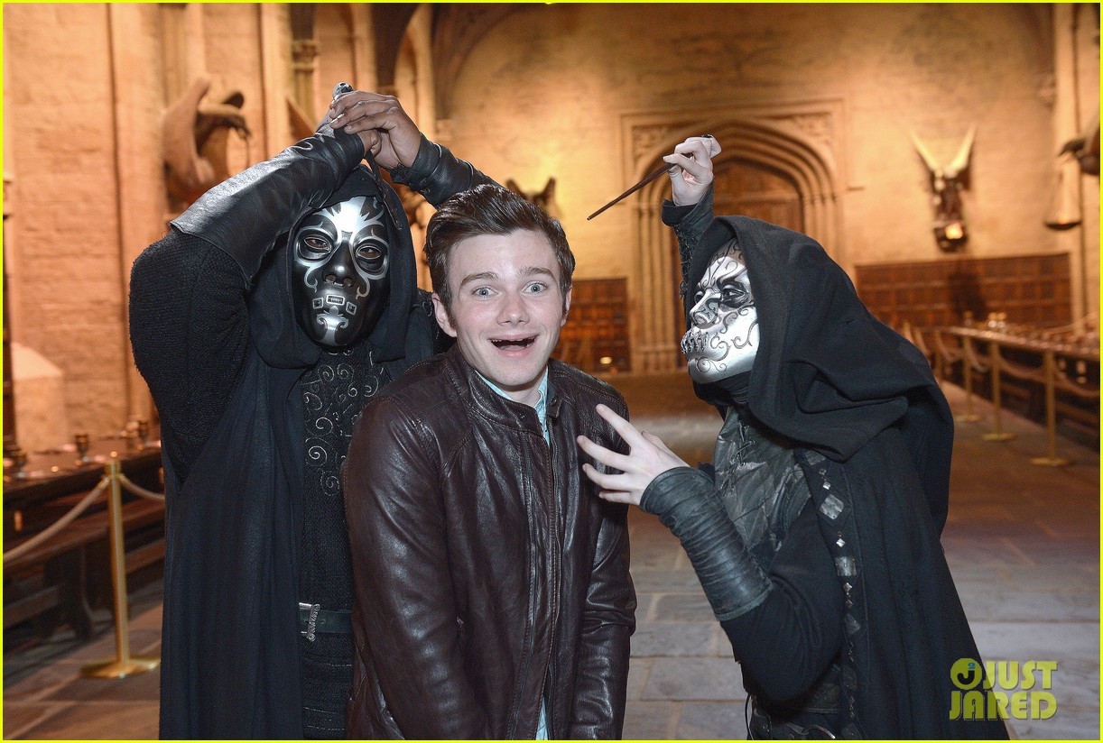 chris colfer harry potter studio tour in london 12