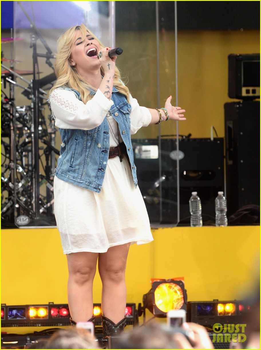 demi lovato good morning america summer concert performer 012899949