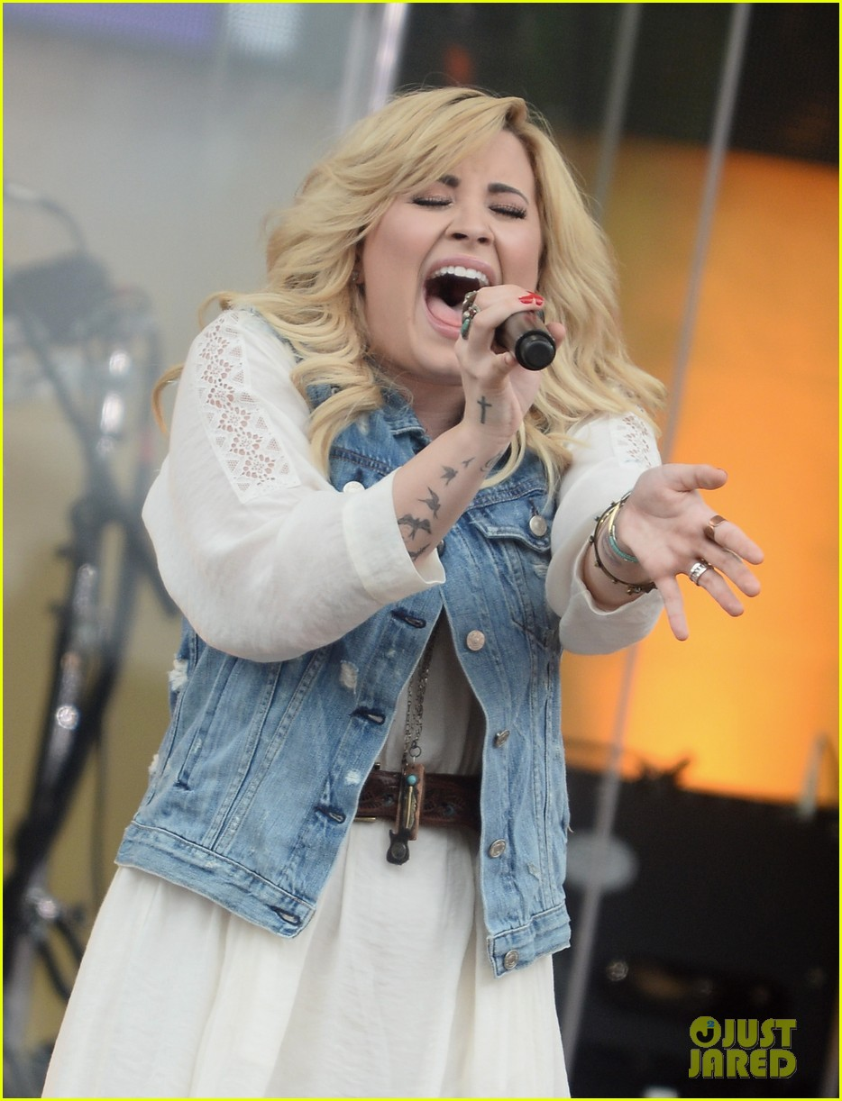 demi lovato good morning america summer concert performer 022899950