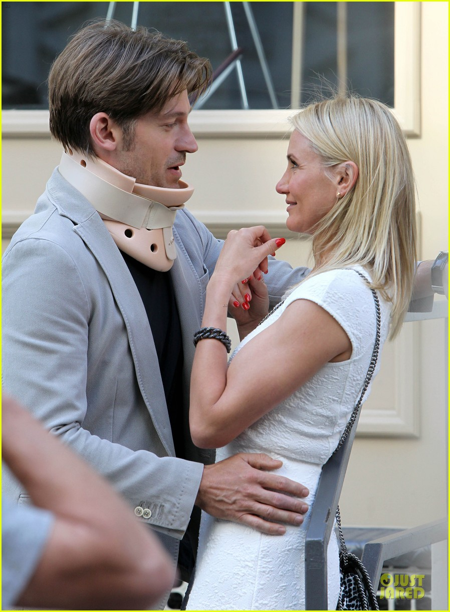 cameron diaz nikolaj coster waldau neck brace on other woman set 18