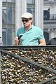 leonardo dicaprio visits famous love locks in paris 10