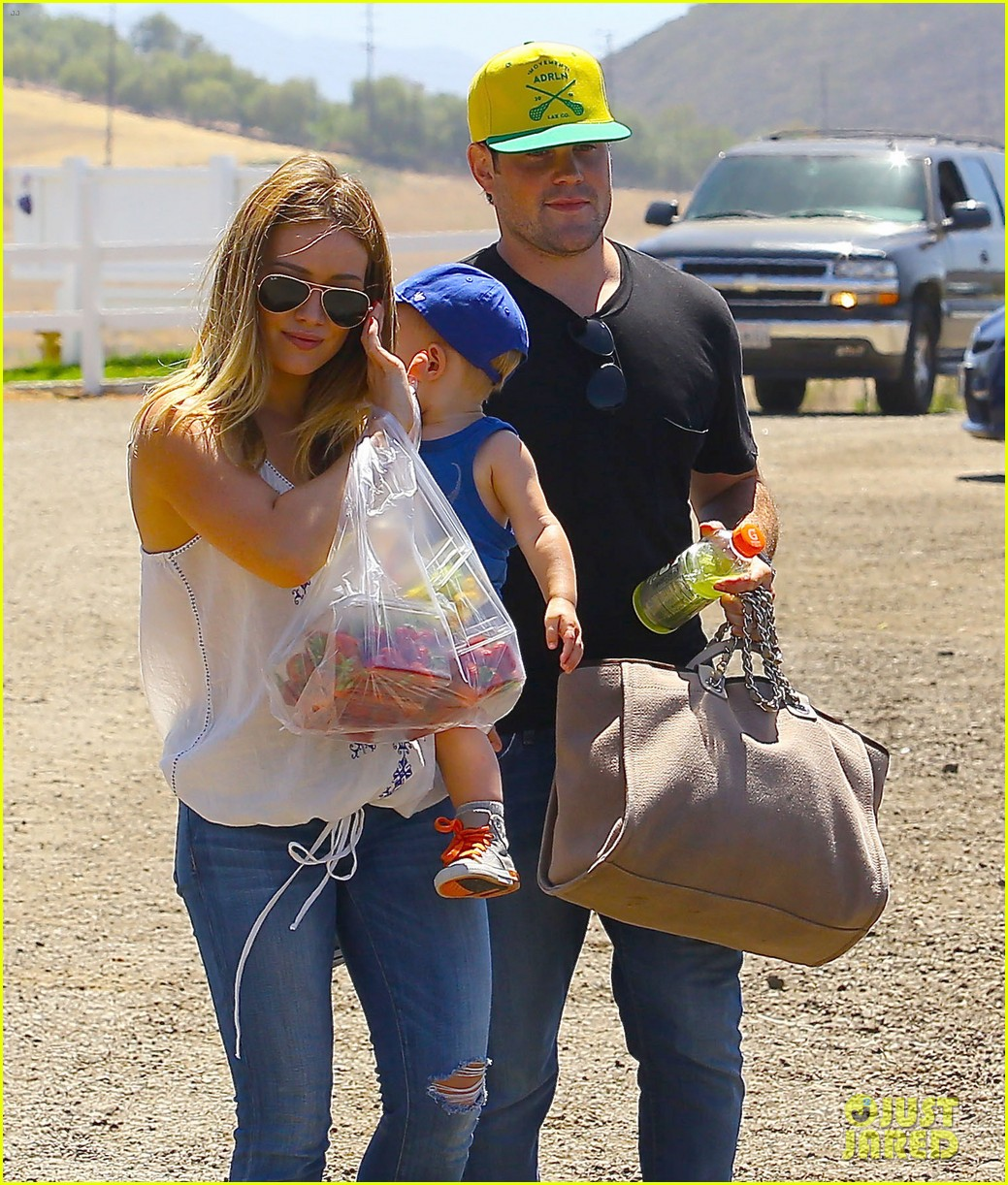 hilary duff family farm fun with sister haylie 402896848