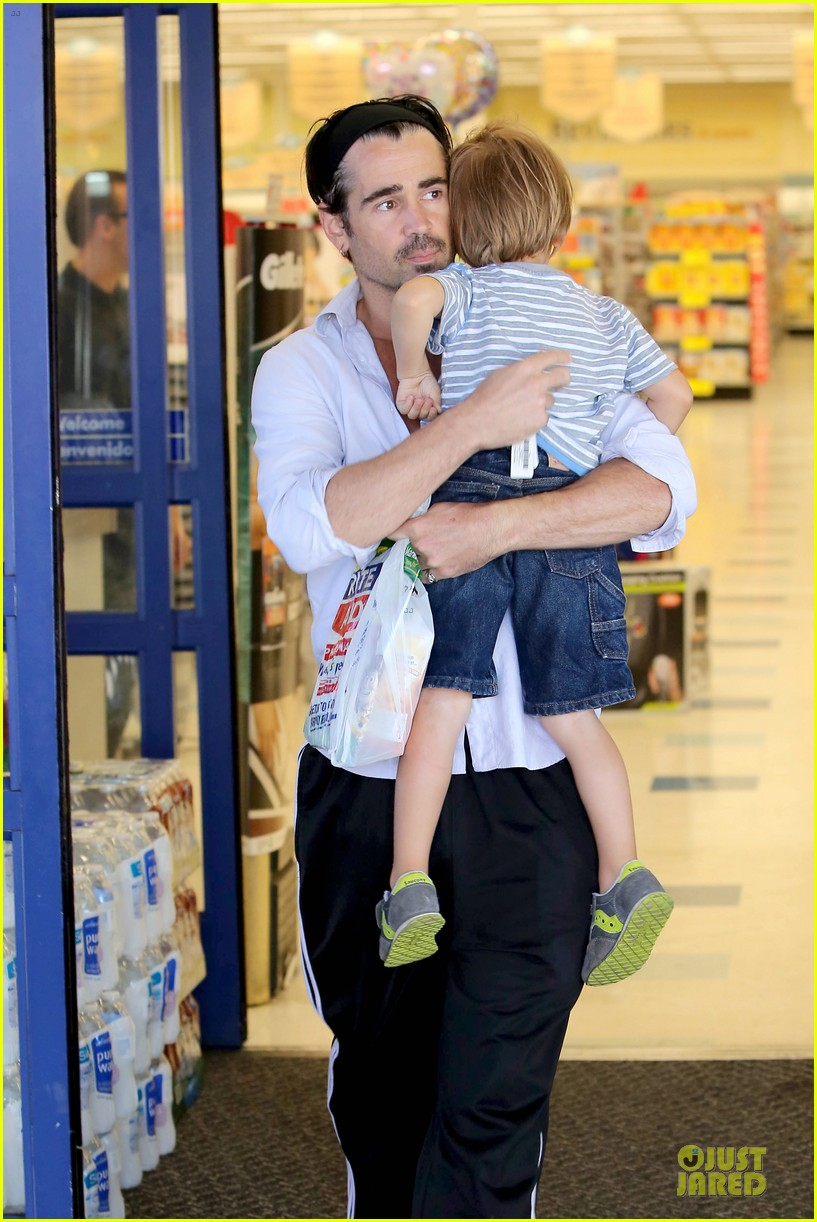 colin farrell rite aid snacks with henry 022891745