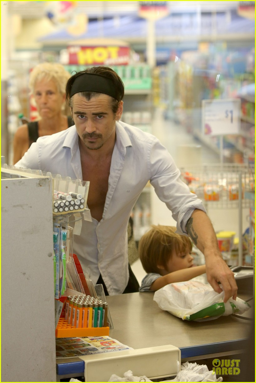 colin farrell rite aid snacks with henry 152891758