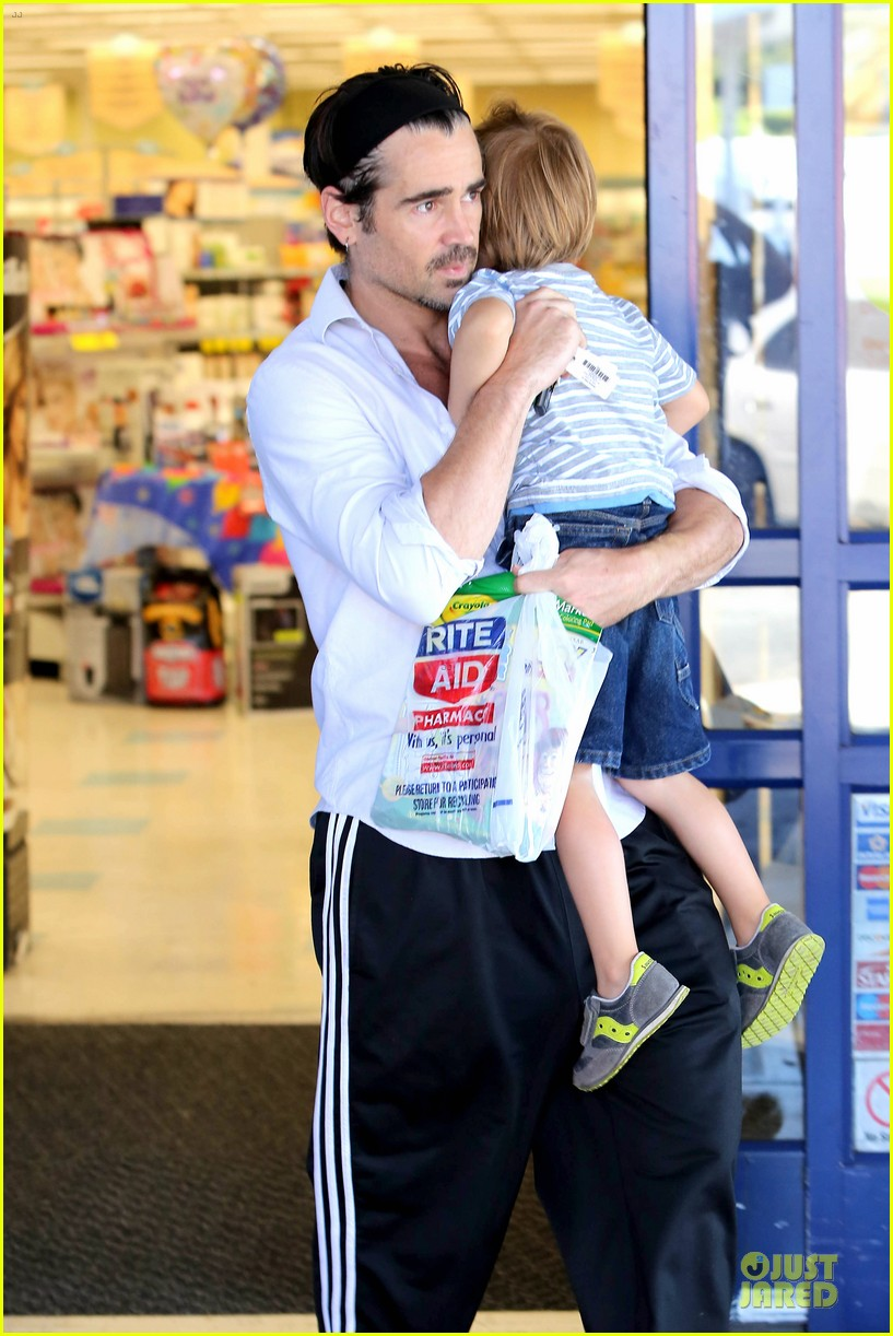 colin farrell rite aid snacks with henry 172891760