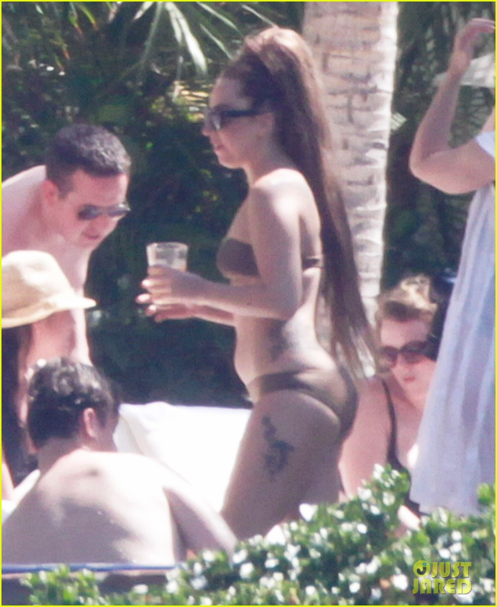 lady gaga bikini sunbathing in mexico 052886706