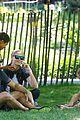 heidi klum martin kirsten take the kids to the park 06