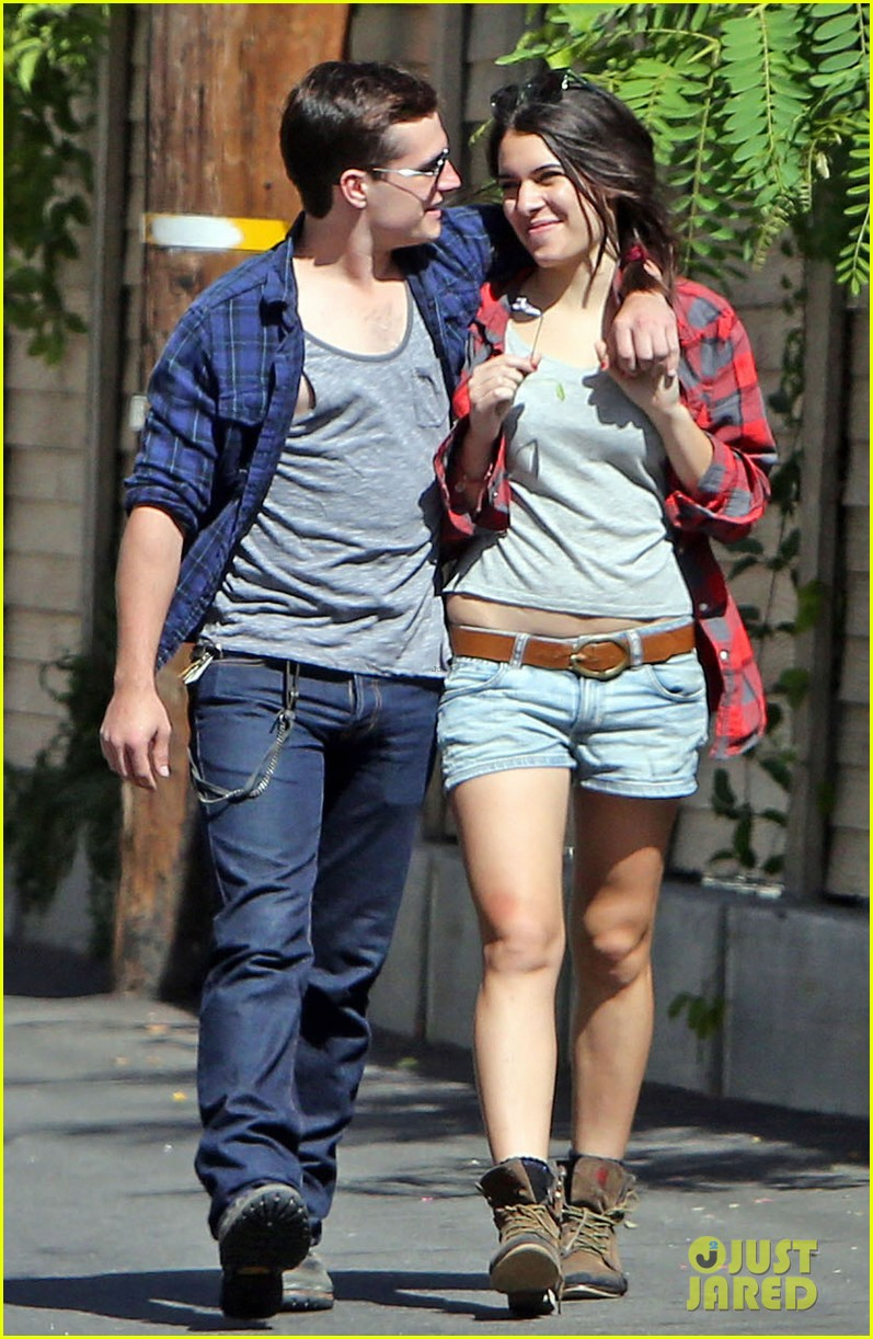josh hutcherson claudia traisac kiss after motorcycle ride 122896641
