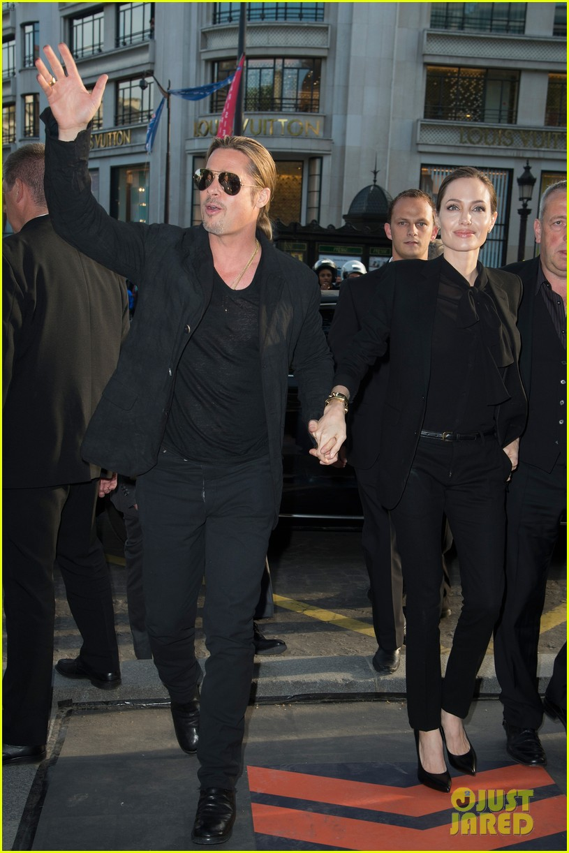 angelina jolie brad pitt world war z paris premiere 082883649