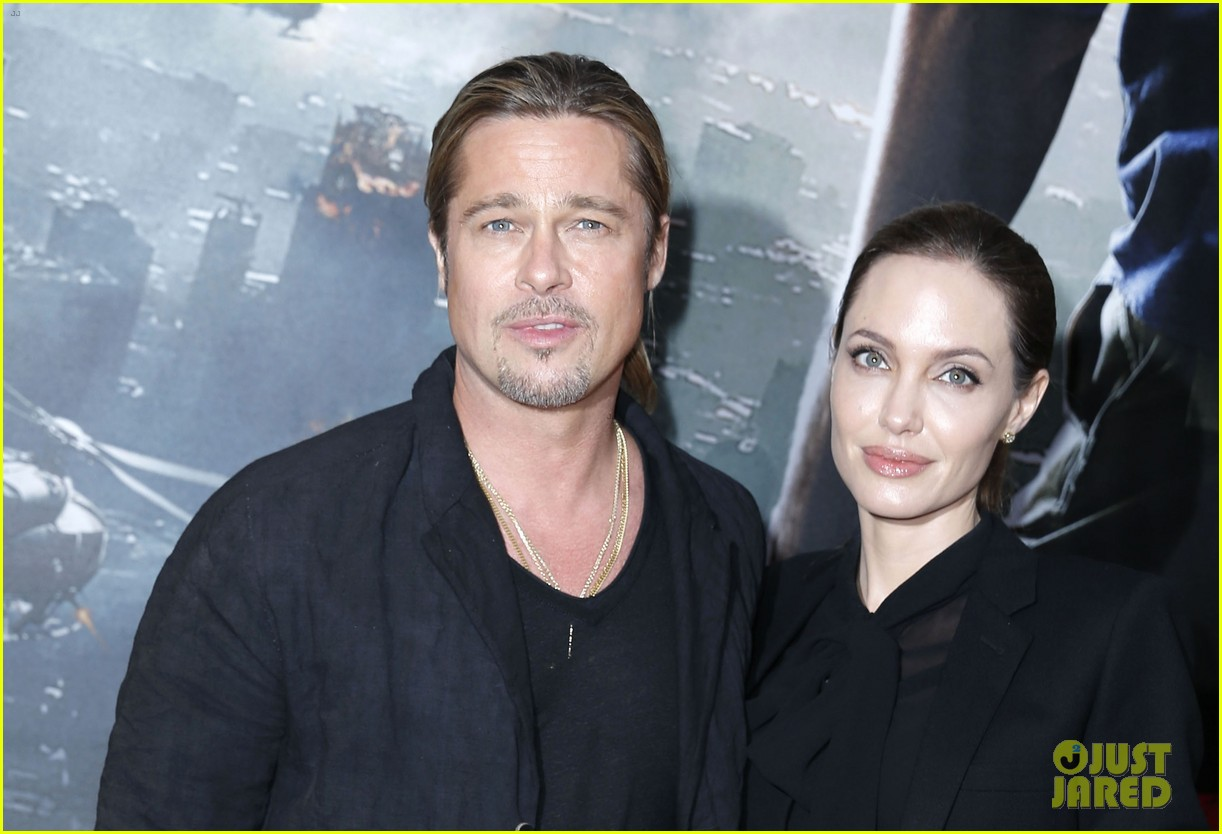 angelina jolie brad pitt world war z paris premiere 112883652