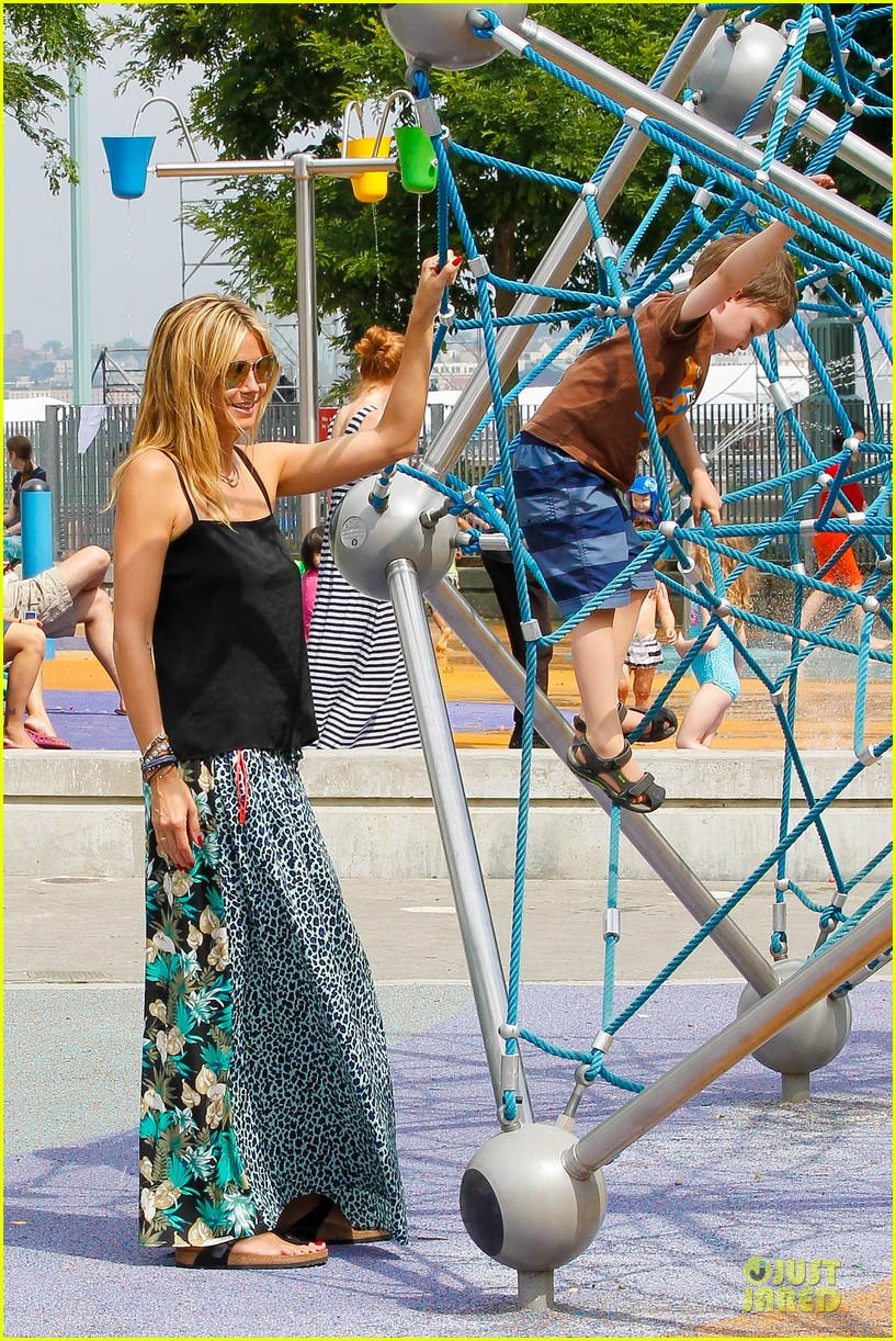 heidi klum i saved my kids hair for art projects 16