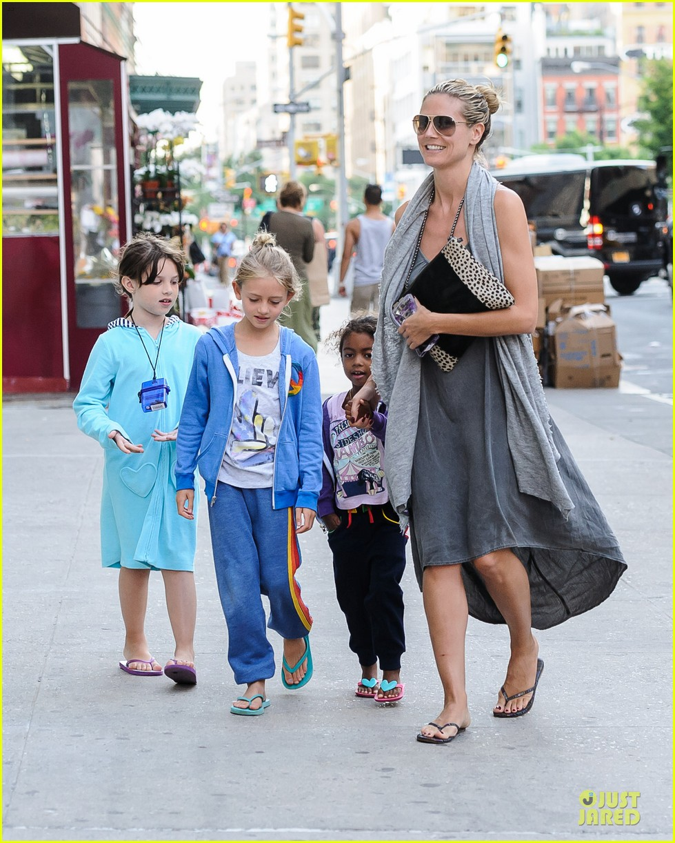 heidi klum nobu diner with the kids 052896367