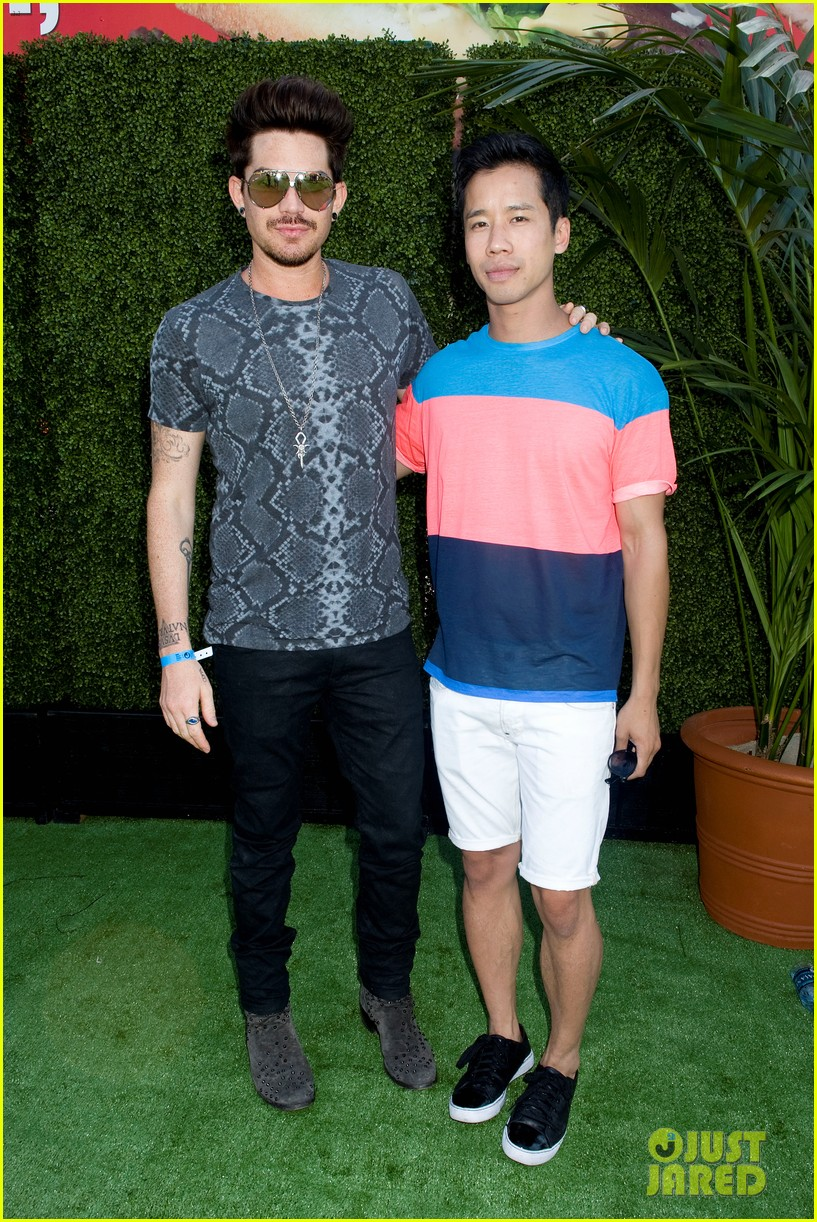 adam lambert hammer time at just jared summer kick off party presented by mcdonalds 03