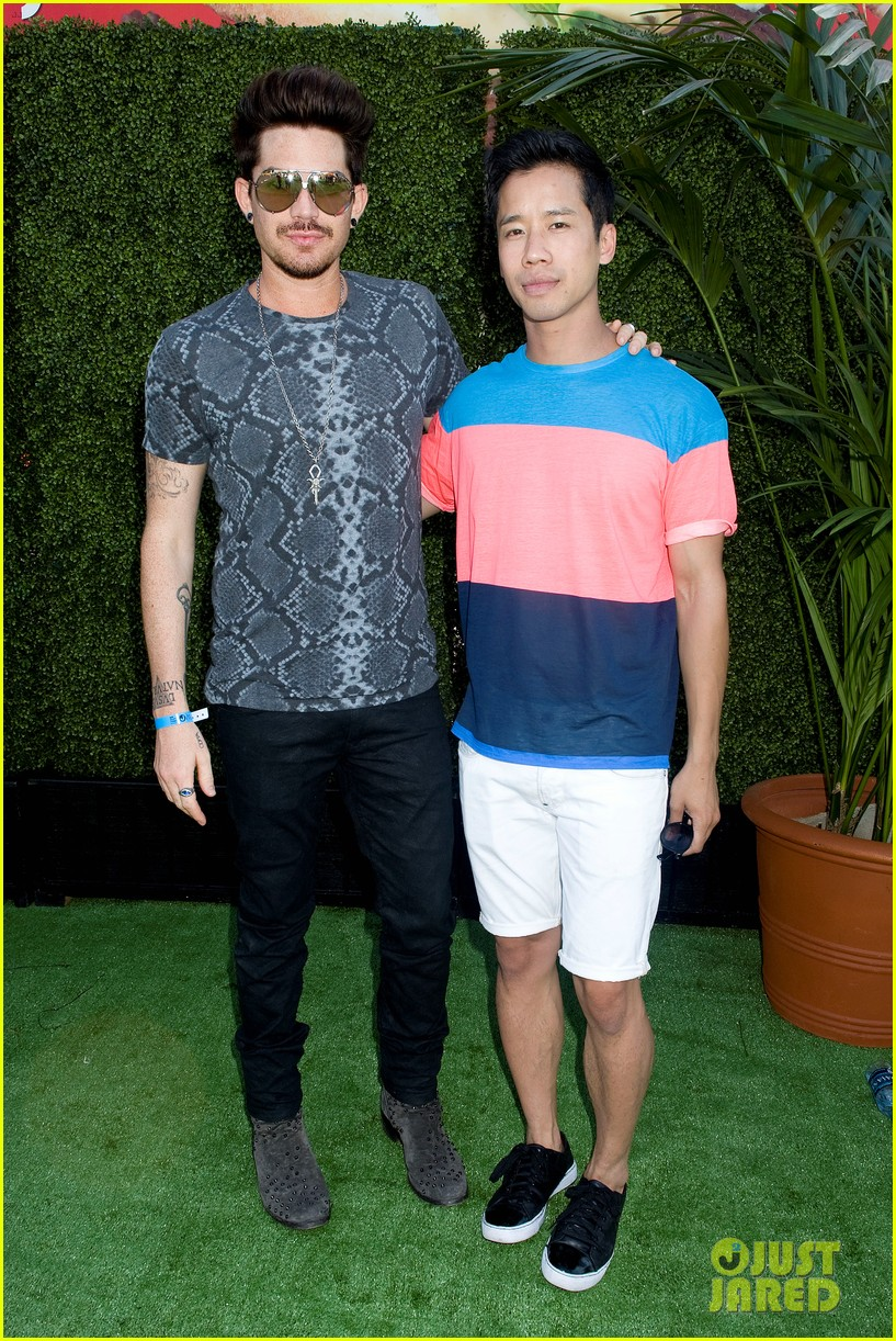 adam lambert hammer time at just jared summer kick off party presented by mcdonalds 212883199