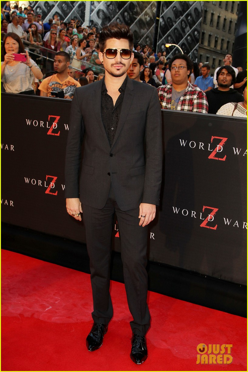 adam lambert world war z nyc premiere 01