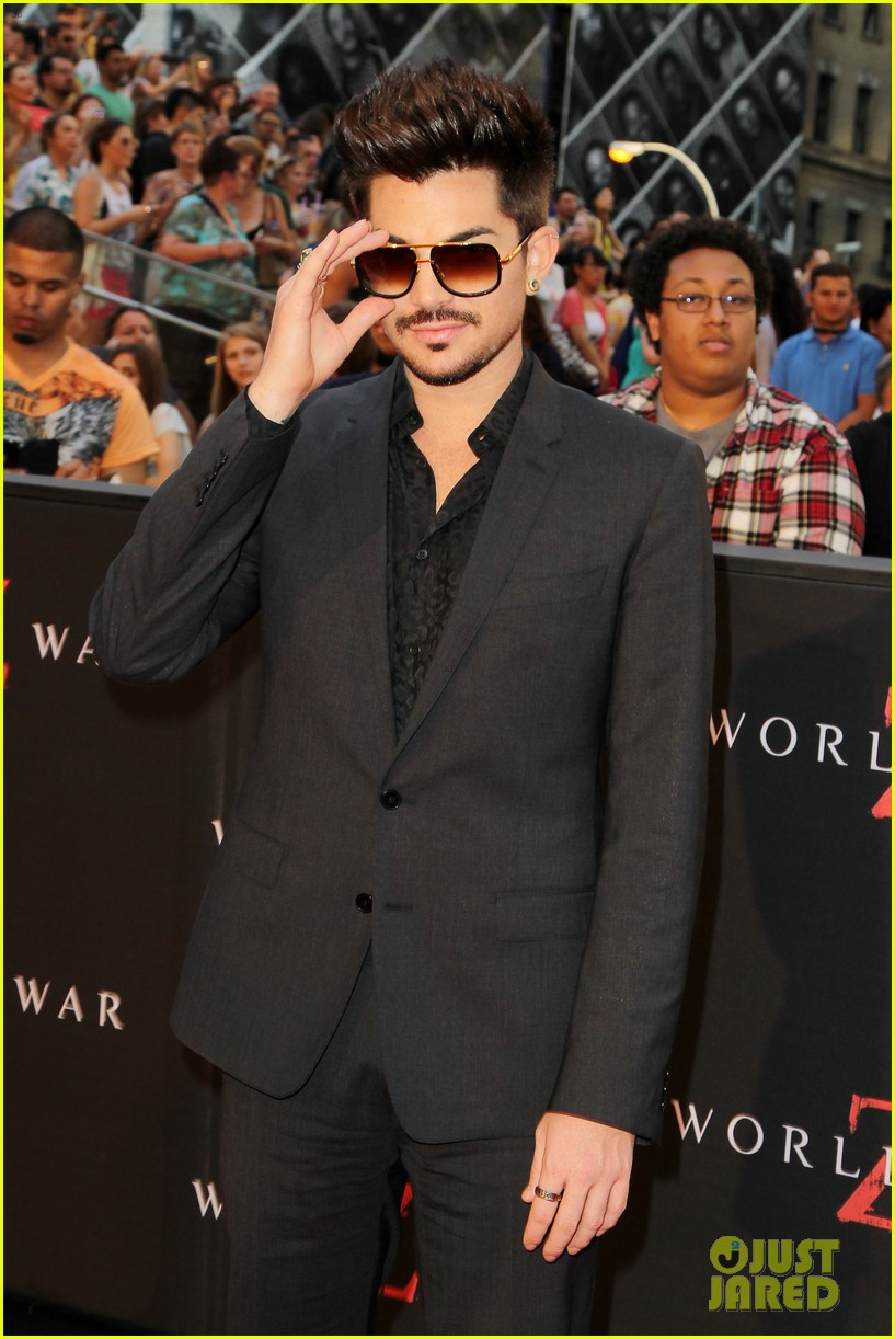 adam lambert world war z nyc premiere 062893332