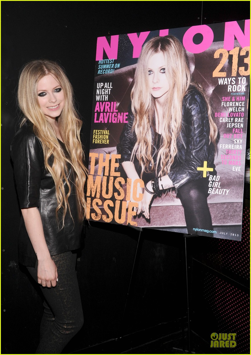 avril lavigne nylon magazine cover party 042889336