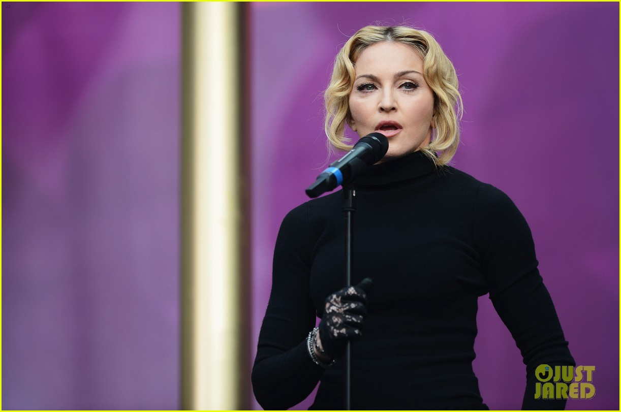 madonna speech at chime for change concert watch now 122882164