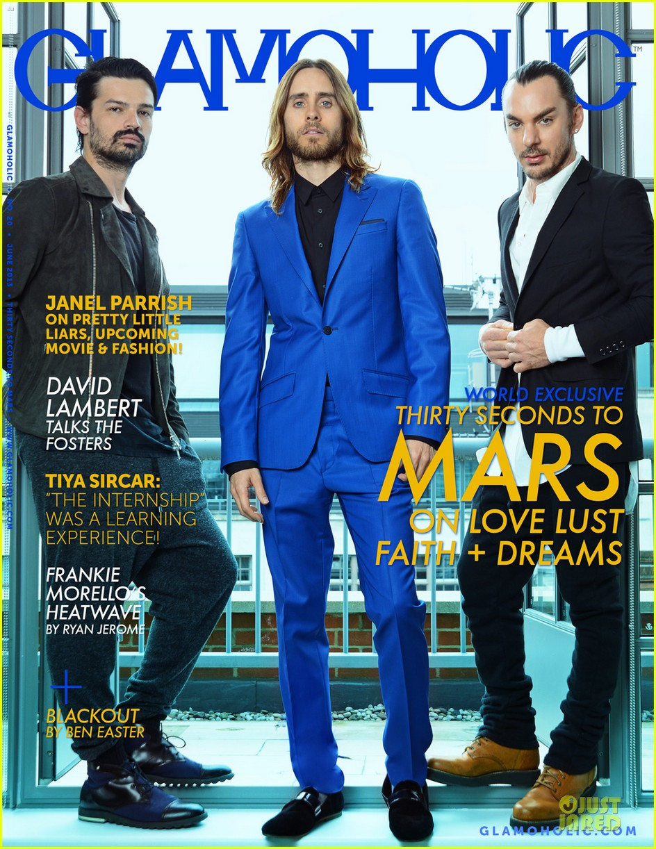 thirty seconds to mars covers glamoholic magazine june 2013 022899187