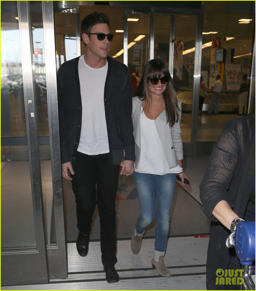 lea michele cory monteith so happy to be in new york 02