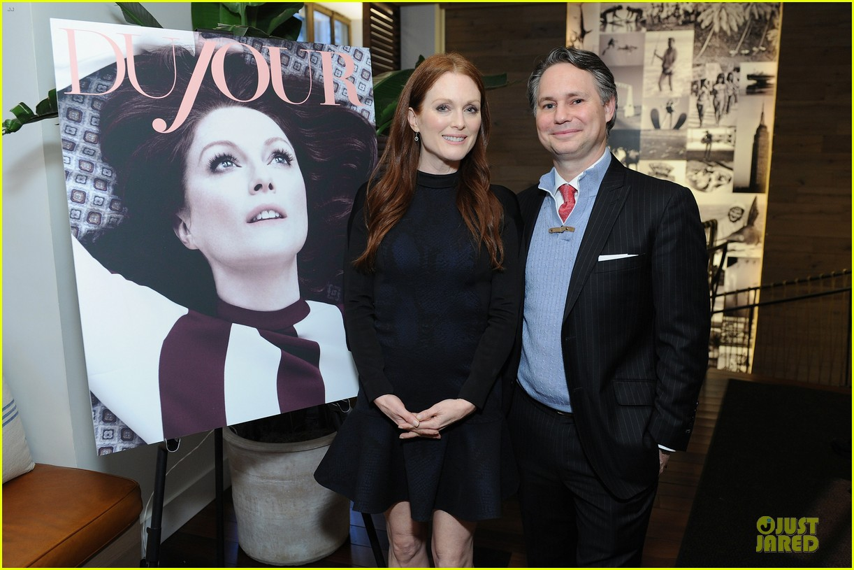 julianne moore dujour magazine summer issue cover party 16