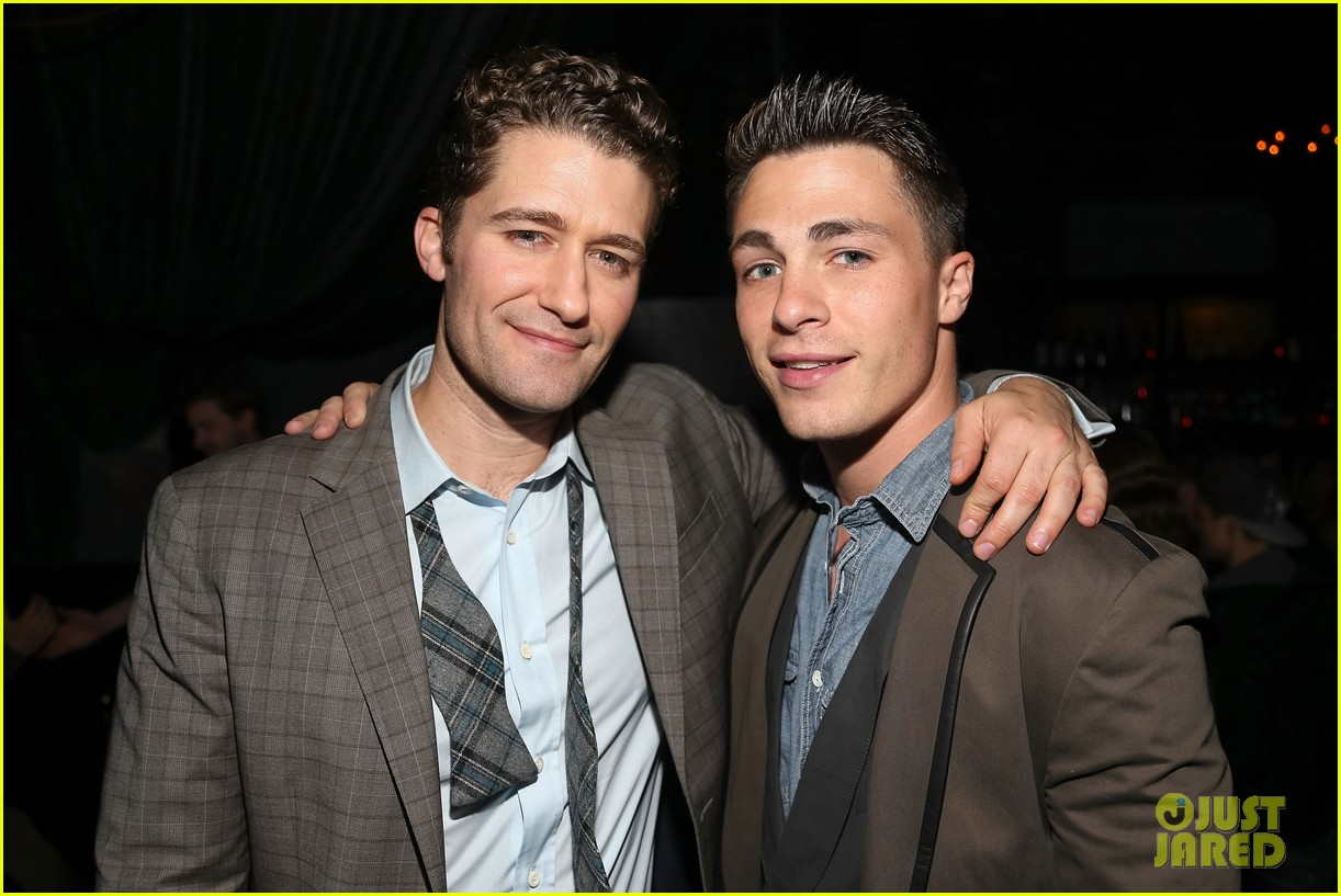 matthew morrison friends family show with colton haynes 05