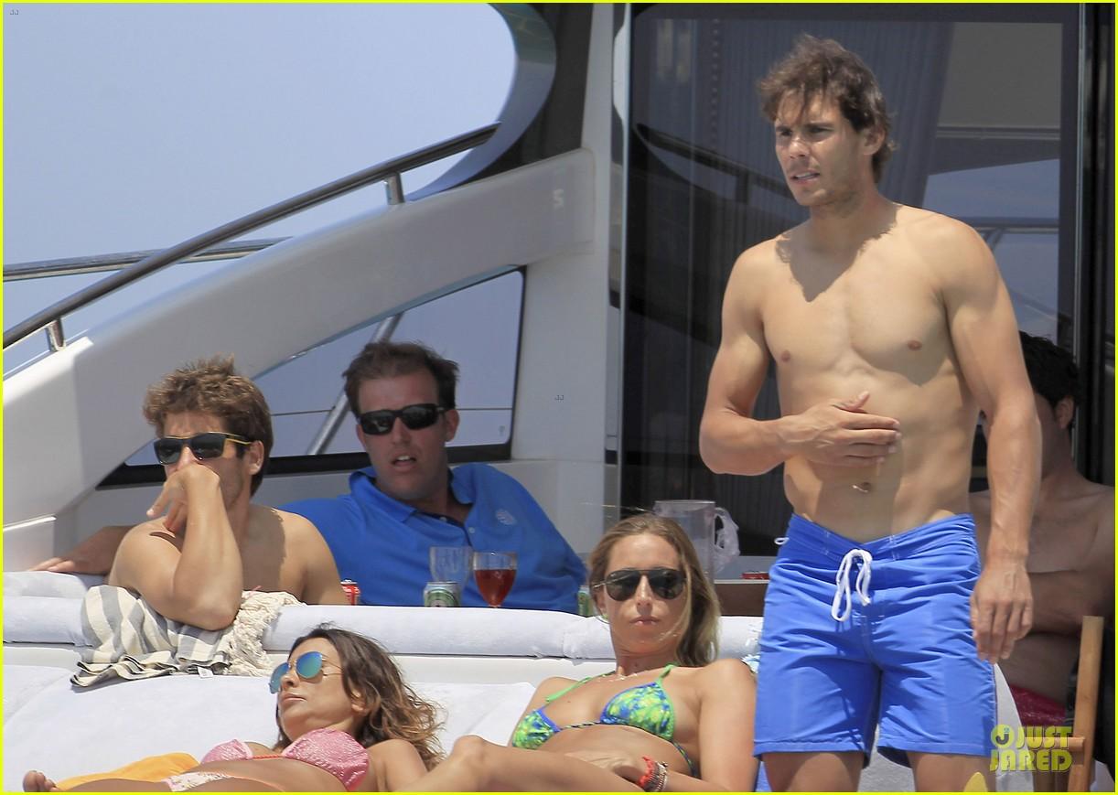 rafael nadal shirtless ibiza vacation with maria francisca perello 312901399