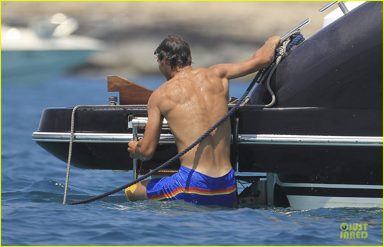 rafael nadal shirtless ibiza vacation with maria francisca perello 36