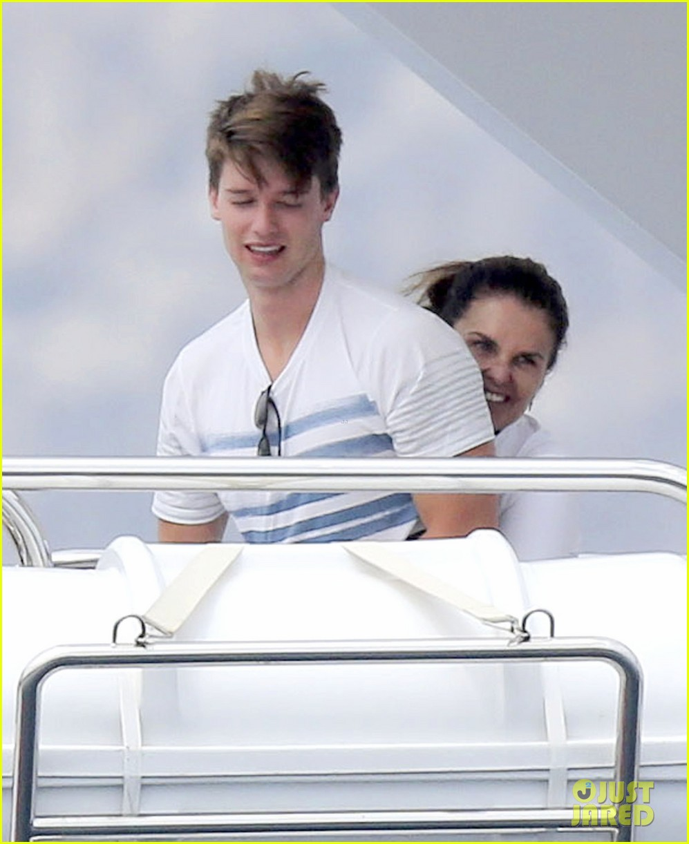 patrick schwarzenegger shirtless vacation continues 092891292