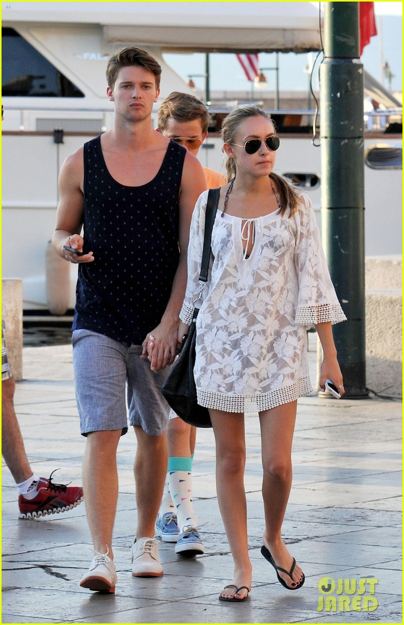 patrick schwarzenegger taylor burns hold hands in st tropez 01
