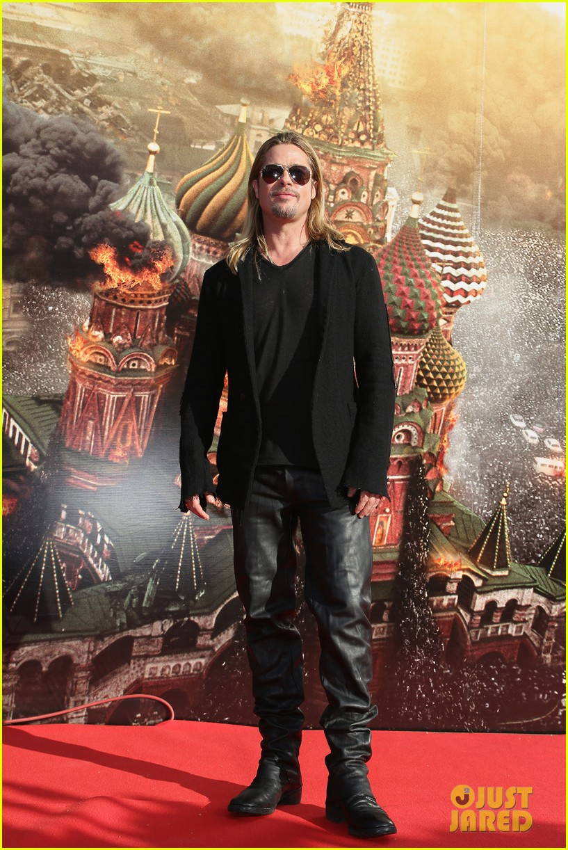brad pitt world war z at moscow film festival 12