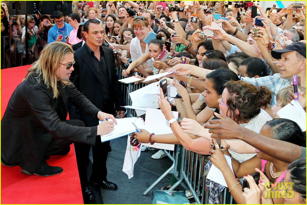 brad pitt world war z new york premiere 412893183