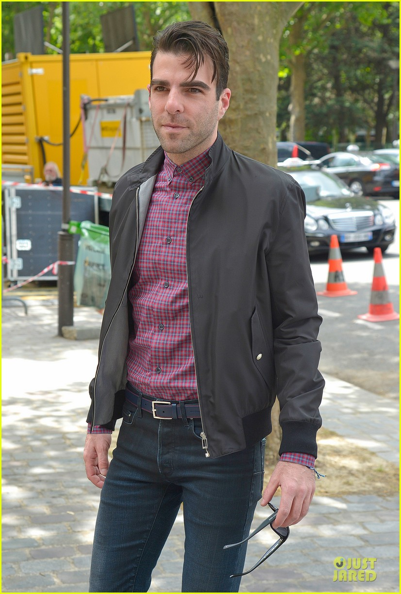 zachary quinto christian dior paris fashion show 022900518